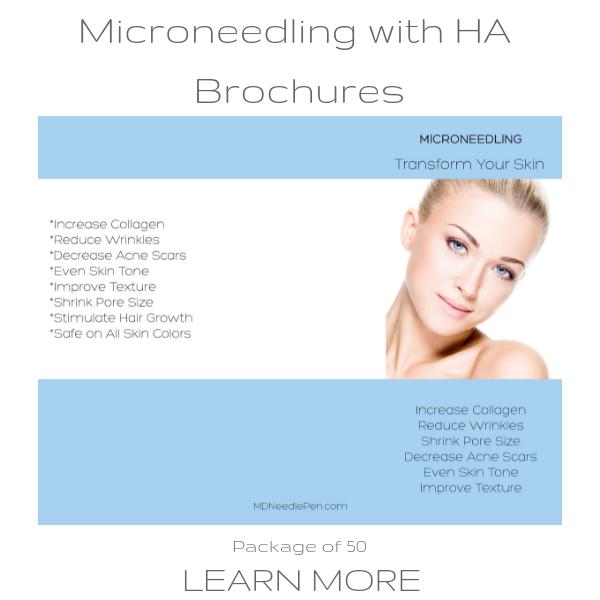 Three Types of Microneedling Brochures